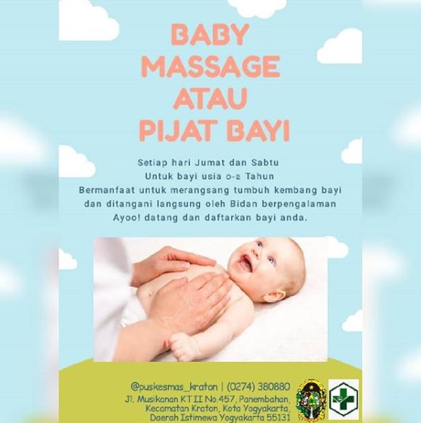 Yuk, Ajak Bayi Pijat Untuk Bayi Sehat, Energik, Dan Ceria