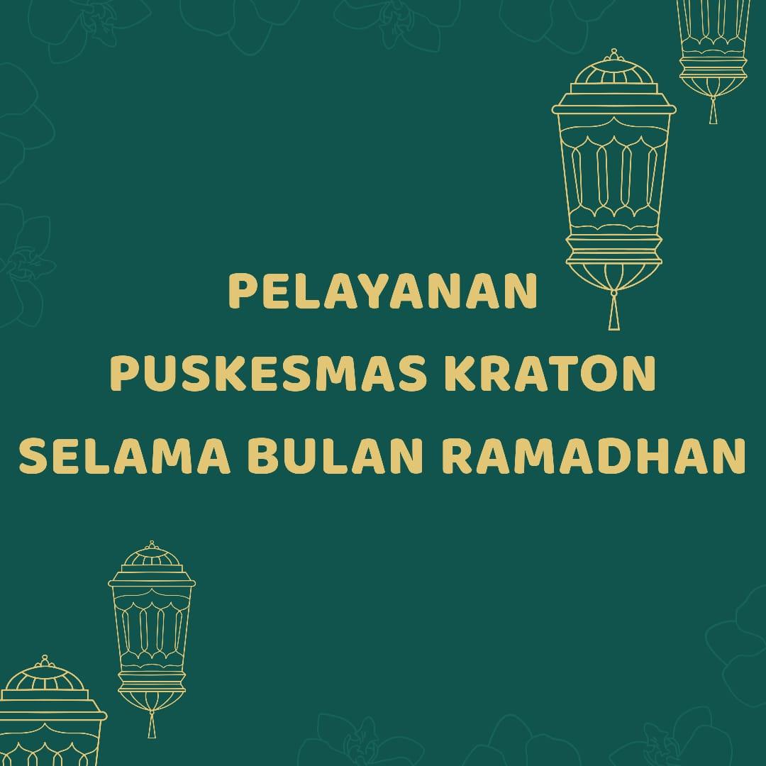 Jam Buka Pelayaan Puskesmas Kota Yogyakarta Selama Bulan Suci Ramadhan 1441 H / 2020 M