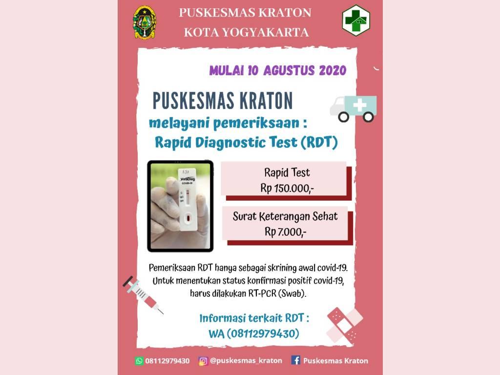 RAPID TEST UPT PUSKESMAS KRATON