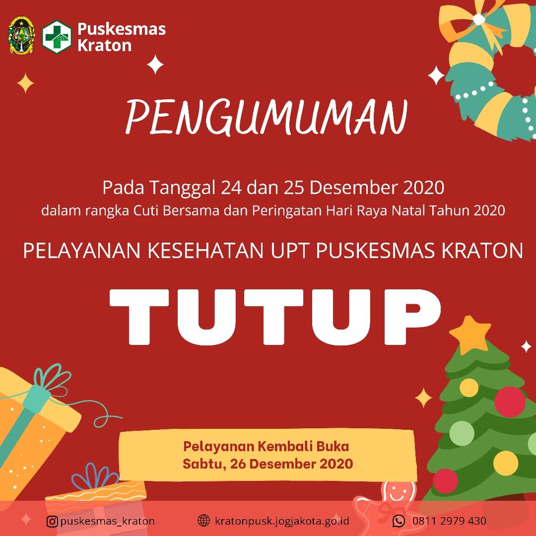 Libur Cuti Bersama dan Peringatan Hari Raya Natal Tahun 2020